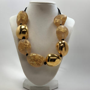 BELART: Necklace; Eco-Resin Opaque with Gold Leaf