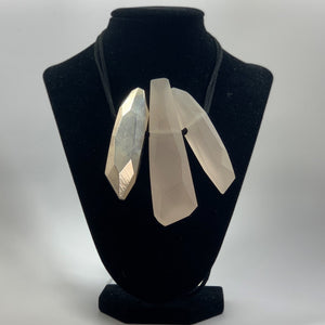 BELART: Necklace; Eco-Resin Trio with Silver Leaf