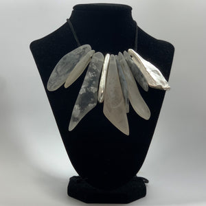 BELART: Necklace; Eco-Resin Nine with Silver Leaf