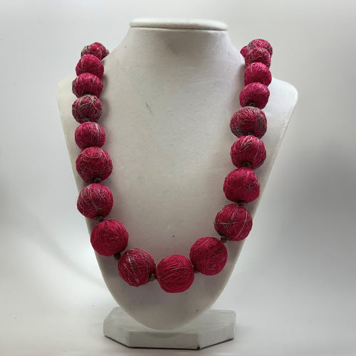 BELART: Necklace & Earrings Set; Agave, Pink