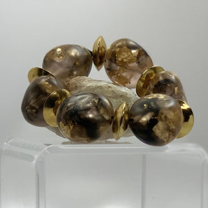 BELART: Bracelet; Eco-Resin with Gold Leaf