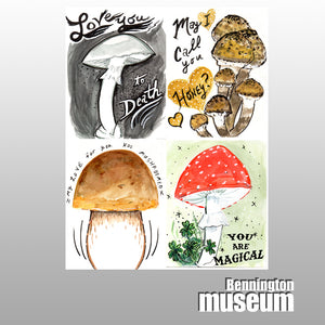 Rhonda Ratray: Notecard, 'Mushrooming Valentines Set (5)'