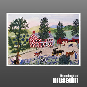 Grandma Moses: Notecard, 'Checkered House'