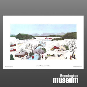 Grandma Moses: Unframed Print, 'Over the River'
