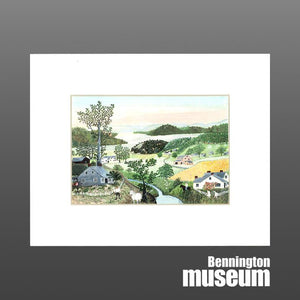 Grandma Moses: Matted Print, 'A Beautiful World'