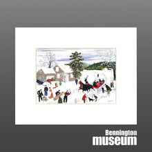 Grandma Moses: Matted Print, 'Joy Ride'