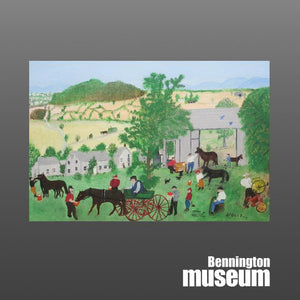 Grandma Moses: Postcard, 'Wagon Repair Shop'
