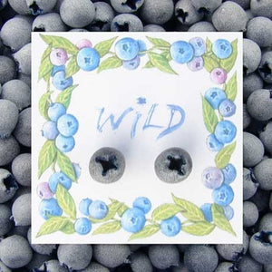 "WrenHouse: Earrings, ""Blueberry"""
