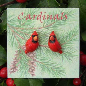"WrenHouse: Earrings, ""Cardinal"""