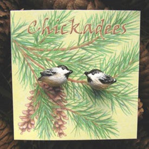 "WrenHouse: Earrings, ""Chickadee"""