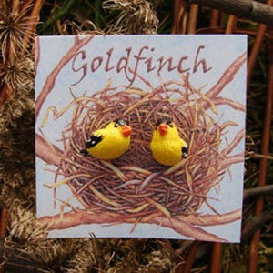 "WrenHouse: Earrings, ""Goldfinch"""