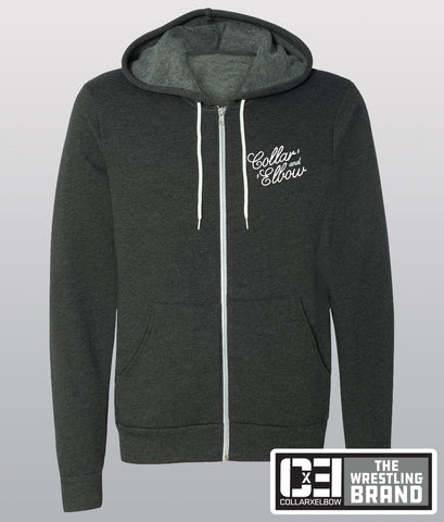 Support - Grey Zip Up Hoodie