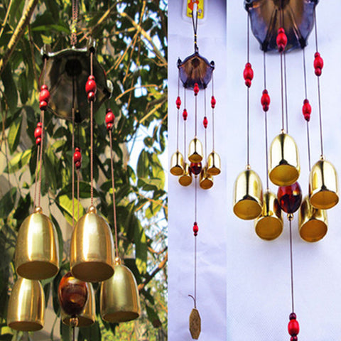 Pavilion Copper 5 Bells Wind Bell