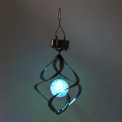 Solar Powered LED Wind Chime Wind Spinner