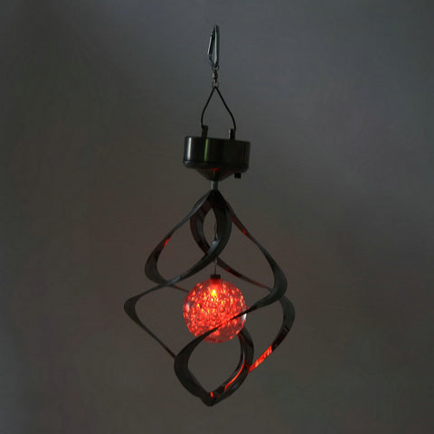 Solar Powered LED Wind Chime Spinner