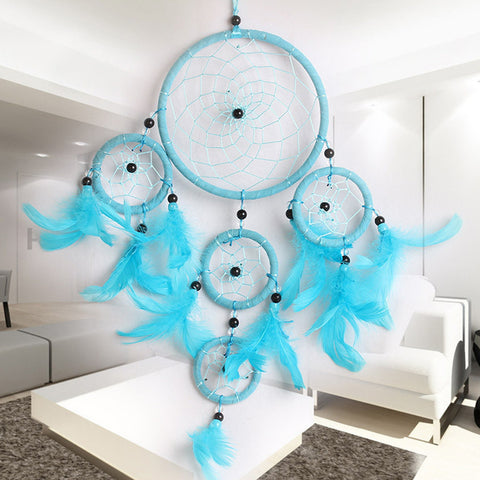 Blue Circle Dream Catcher