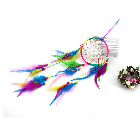 "Colorful Dreamcatcher ""Feather Pendant"""