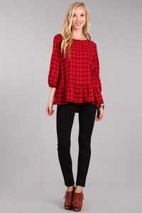 Peplum Plaid