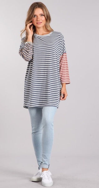 Soft Stripe Tunic