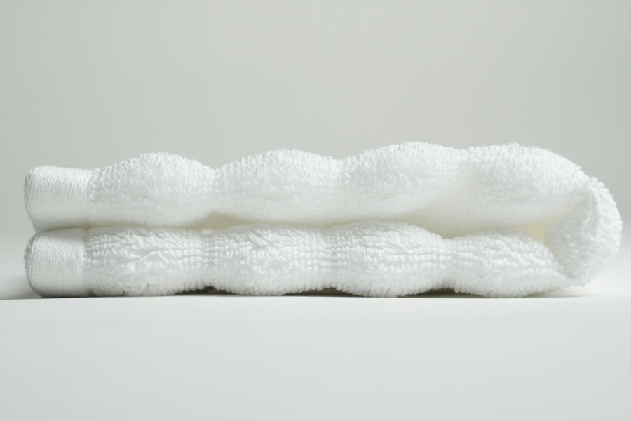 White Nutrl Washcloth Towel