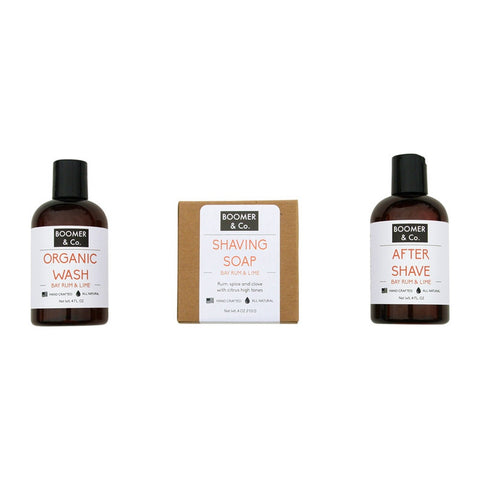 Bay Rum & Lime Men's Grooming Kit
