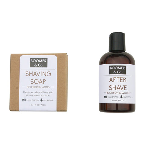 Bourbon & Sandalwood Shaving Kit