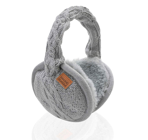 Sound Huggle Bluetooth Earmuff Headphones - Knit Light Grey