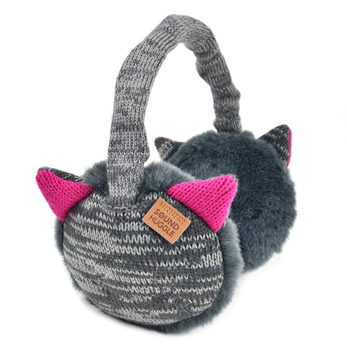 Sound Huggle Bluetooth Earmuffs Headphones - Gray Cat