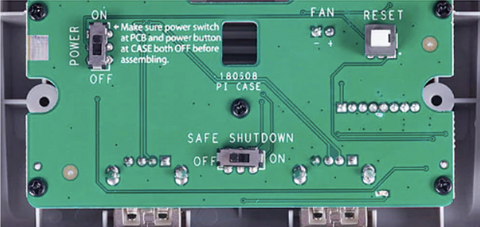 SuperPi Case-J Safe Shutdown and Safe Reset buttons