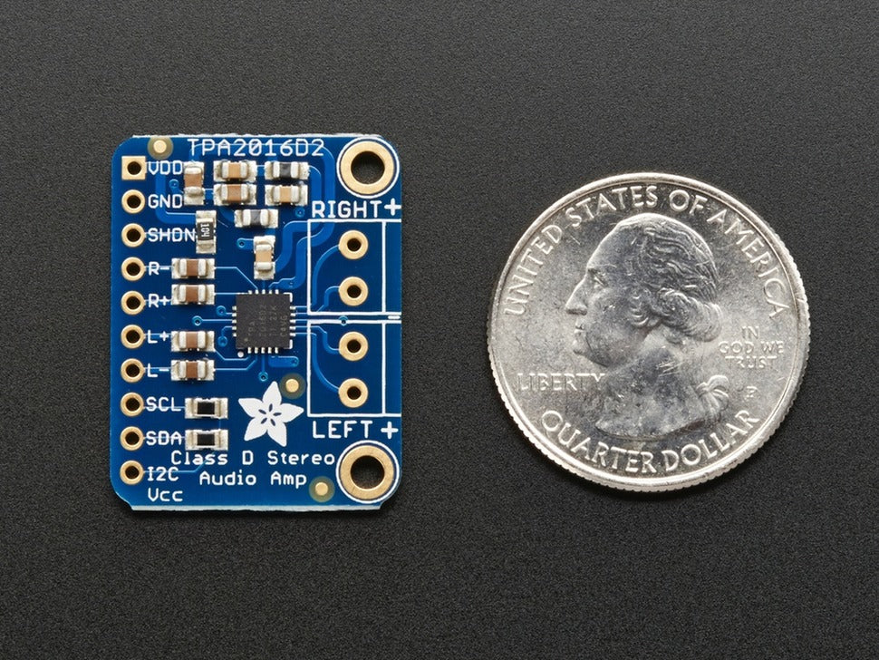 Adafruit Stereo 2.8W Class D Audio Amp (Top View)