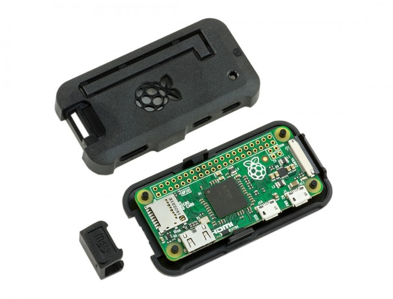 Inside Black Pi Zero Case