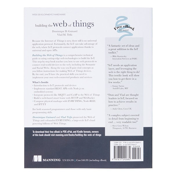 Web of Things Book - back cover