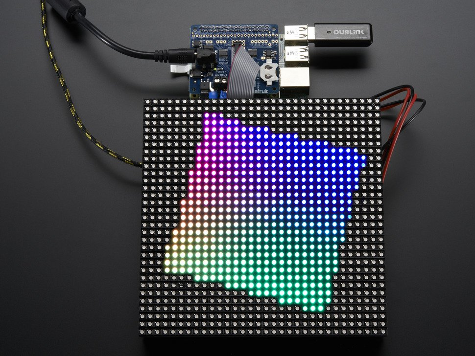 Adafruit RGB Matrix HAT + RTC In Action