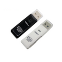 Super Speed 5Gbps USB 3.0 Micro SD TF Card Reader Adapter White and Black