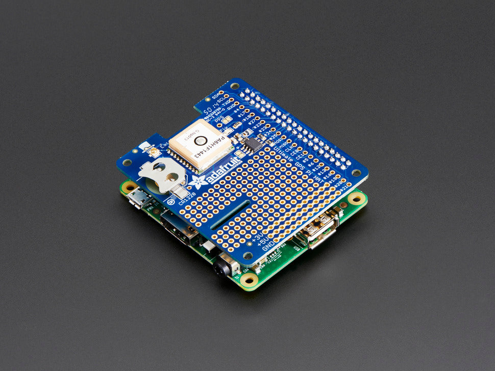 Adafruit Ultimate GPS HAT Mini Kit Stacked