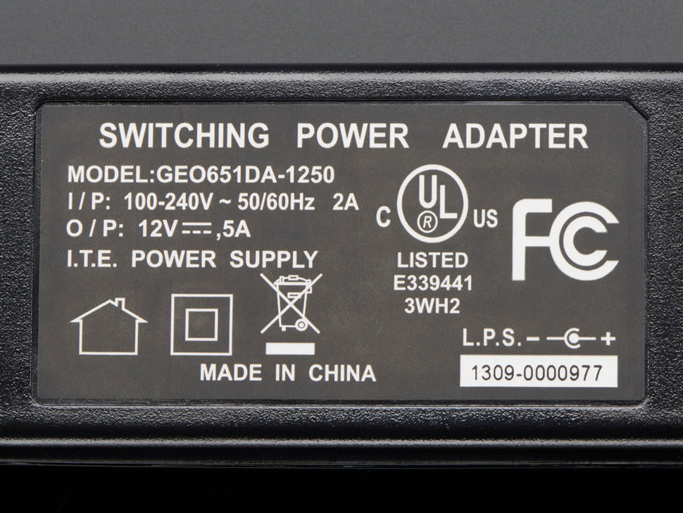 12V 5A Switching Power Supply Spec