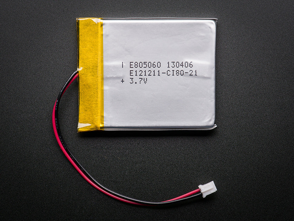 Lithium Ion Polymer Battery - 3.7v 2500mAh