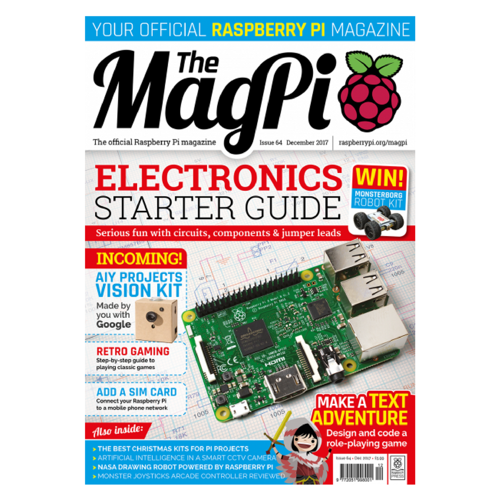 the magpi raspberry pi magazine issue 64 pi supply rh uk pi supply com Raspberry Pi Magazine July 2018 Raspberry Pi Magazine July 2018