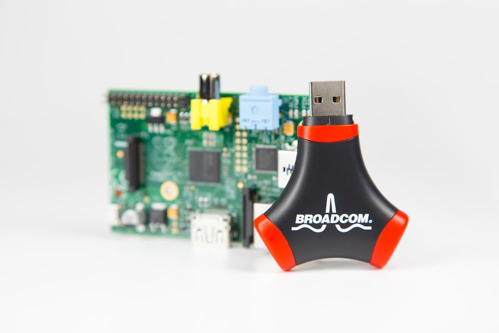 Broadcom WiFi Adapter and USB Hub with Raspberry Pi
