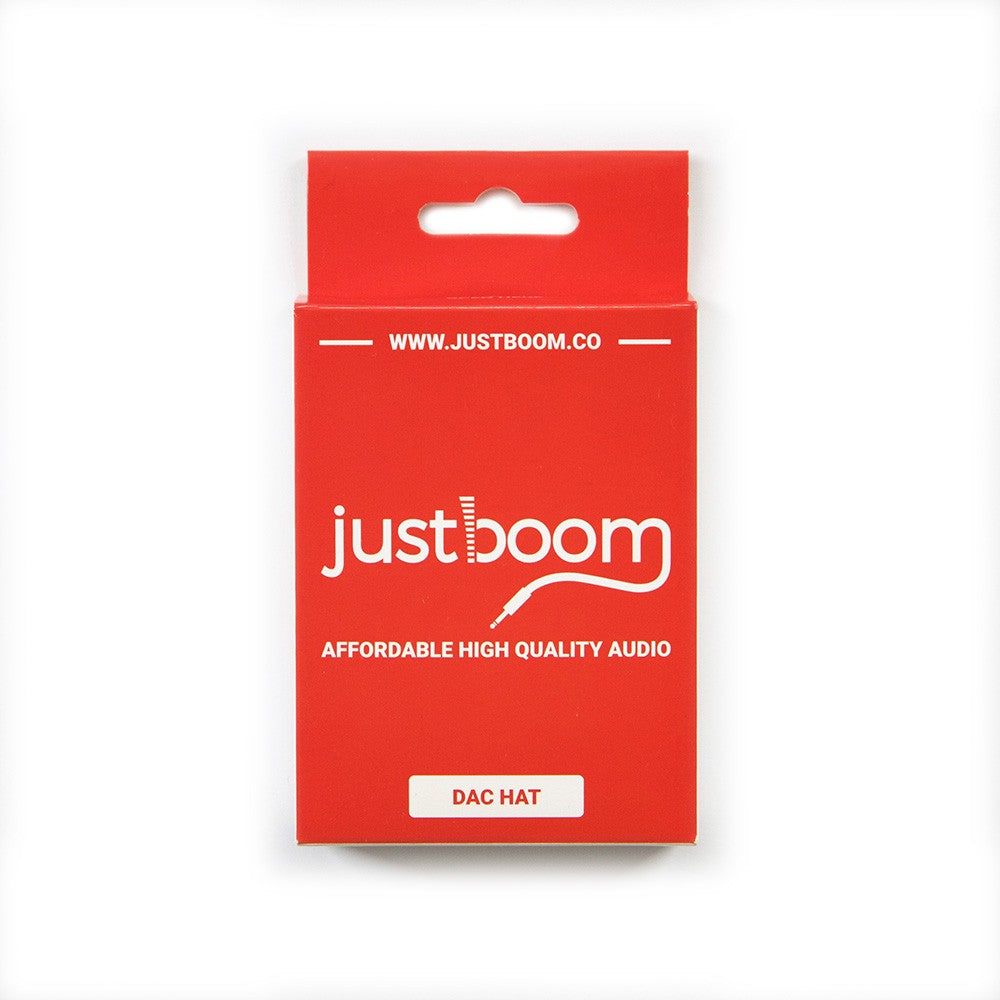JustBoom DAC HAT Packaging