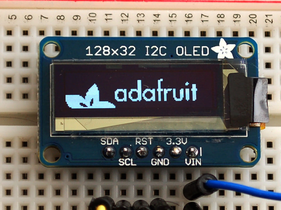 Adafruit Monochrome 128x32 I2C OLED graphic display – Pi Supply