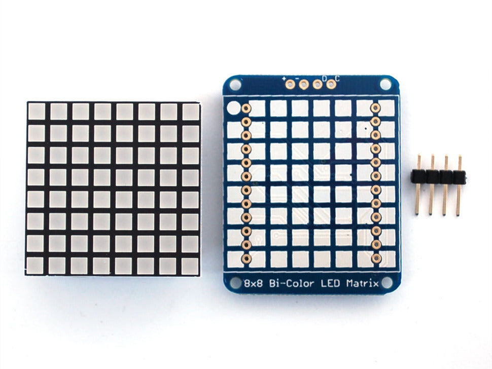 Adafruit Bicolor LED Square Pixel Matrix Front