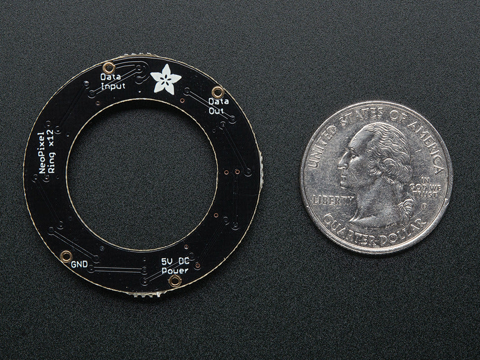 Adafruit NeoPixel Ring - 12 Pixel (Bottom View)