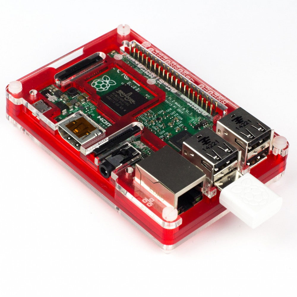 Raspberry Pi WiFi Dongle with Pi2 and PiBow Coupe