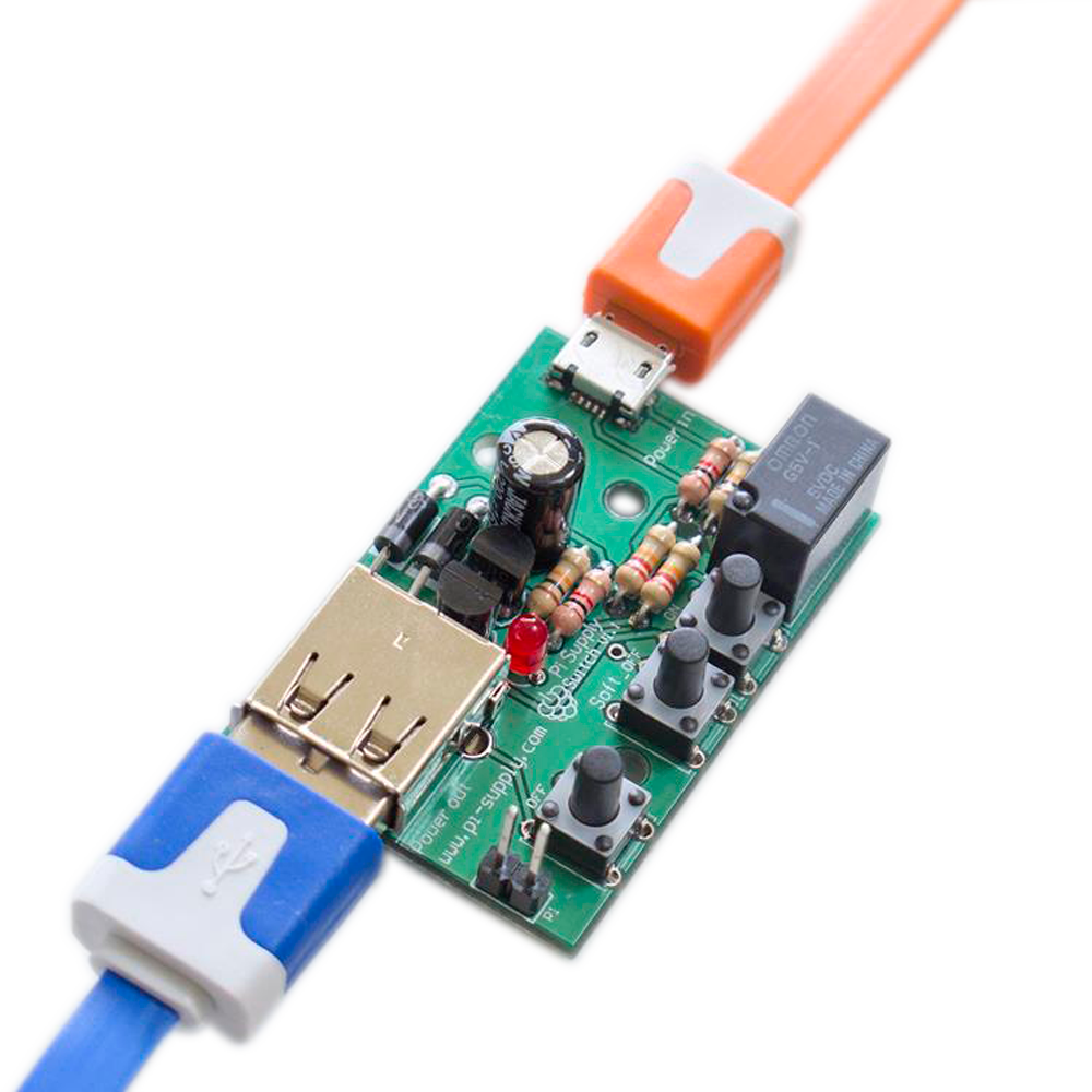 Pi Supply Switch On Off Power For Raspberry Buttons By Soldering Wires To Contacts The Mouse Circuit Board