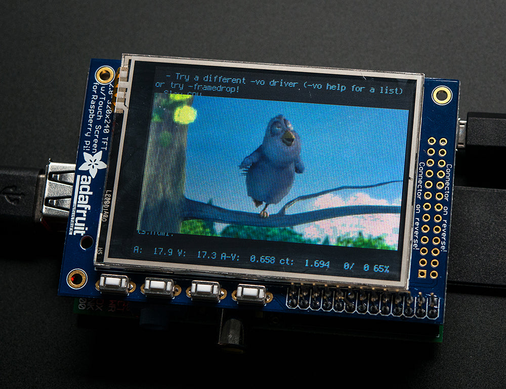 Adafruit PiTFT 2.8 Inch Bird