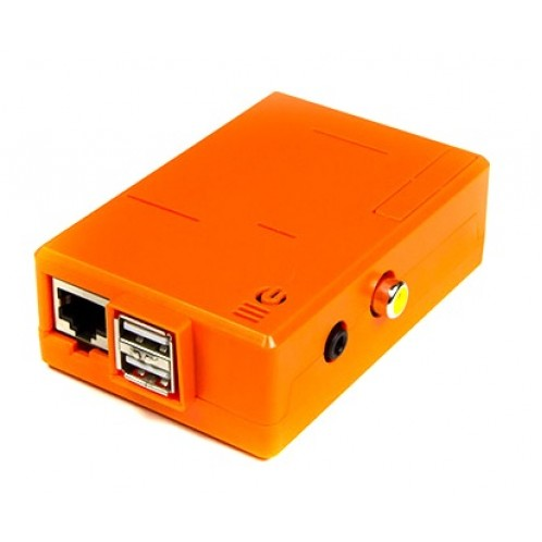 Orange Raspberry Pi Case