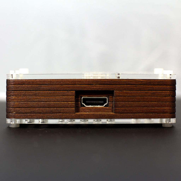 Pibow Timber Raspberry Pi Case Sideview