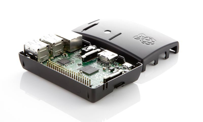 Black Multicomp Case for Raspberry Pi B+ Open