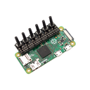 GPIO Button Adapter stacked on a PI Zero W